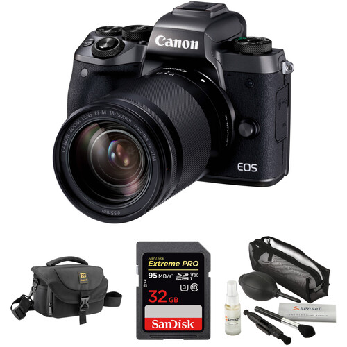 Canon EOS M5 Mirrorless Digital Camera with 18-150mm Lens with Free Accessory Kit