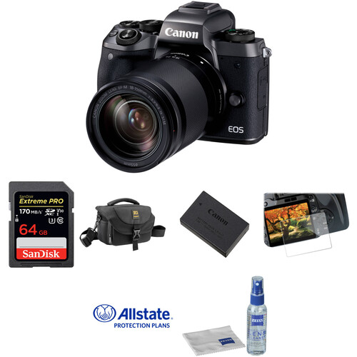 Canon EOS M5 Mirrorless Digital Camera with 18-150mm Lens Deluxe Kit
