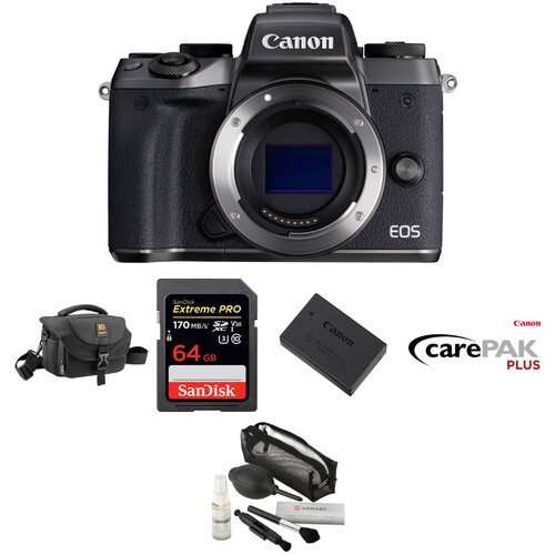 Canon EOS M5 Mirrorless Digital Camera Deluxe Kit (Body Only)
