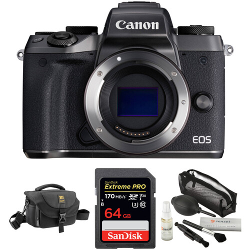 Canon EOS M5 Mirrorless Digital Camera with Accessories Kit (Body Only)