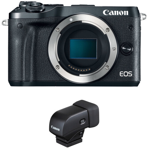 Canon EOS M6 Mirrorless Digital Camera with Electronic Viewfinder Kit (Black)
