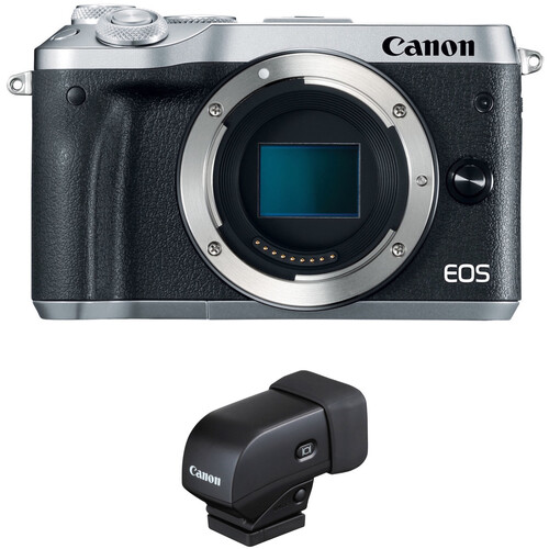 Canon EOS M6 Mirrorless Digital Camera with Electronic Viewfinder Kit (Silver)