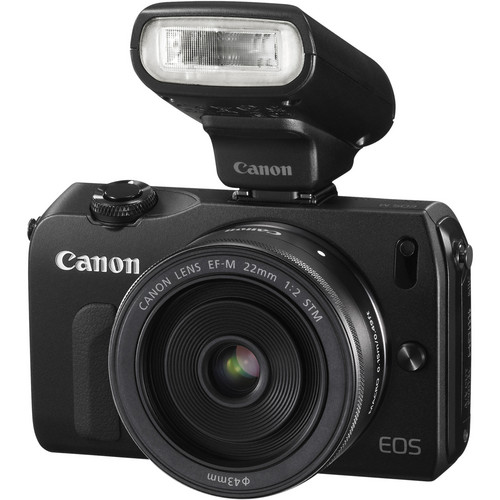 Canon EOS M Mirrorless Digital Camera Kit with 22mm f/2 Lens and 90EX Flash (Black)