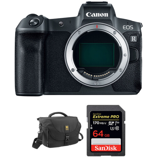 Canon EOS R Mirrorless Digital Camera Body with Free Accessory Kit