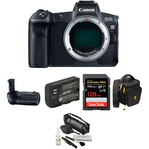 Canon EOS R Mirrorless Digital Camera Body with Battery Grip Kit