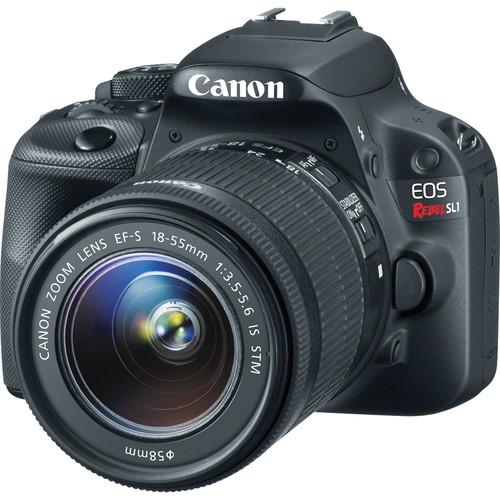Canon EOS Rebel SL1 DSLR Camera with 18-55mm Lens Deluxe Kit (Black)