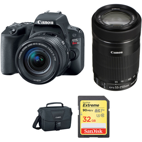 Canon EOS Rebel SL2 DSLR Camera with 18-55mm and 55-250mm Lenses Kit