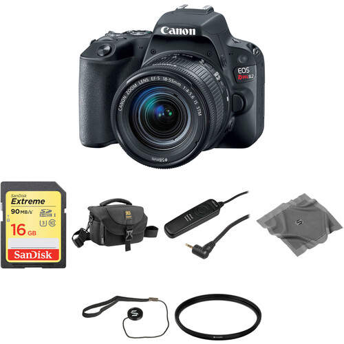 Canon EOS Rebel SL2 DSLR Camera with 18-55mm Lens Basic Kit