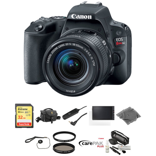 Canon EOS Rebel SL2 DSLR Camera with 18-55mm Lens Deluxe Kit