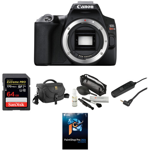 Canon EOS Rebel SL3 DSLR Camera Body Deluxe Kit (Black)