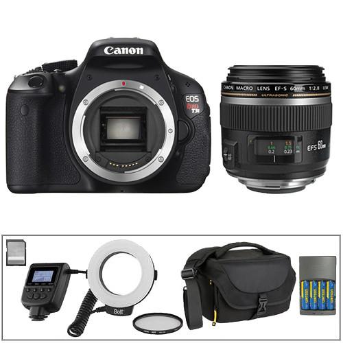 Canon EOS Rebel T3i DSLR with 60mm Macro Lens Deluxe Dental Kit