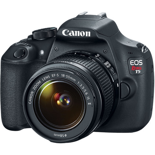 Canon EOS Rebel T5 DSLR Camera with 18-55mm Lens and PIXMA PRO-100 Printer Kit