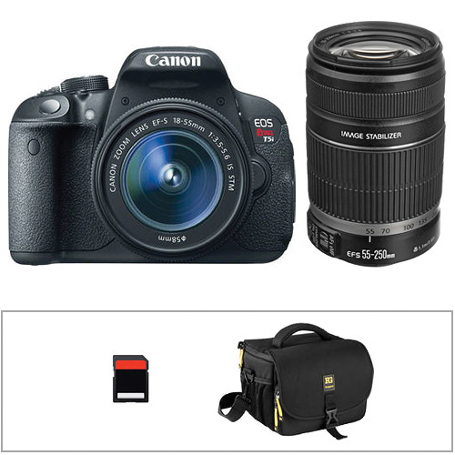 Canon EOS Rebel T5i DSLR Camera Kit with EF-S 18-55mm STM and 55-250mm Lenses