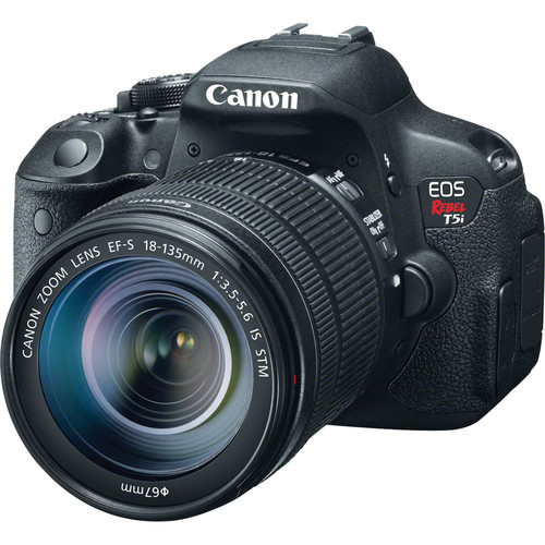 Canon EOS Rebel T5i DSLR Camera with 18-135mm Lens Deluxe Kit