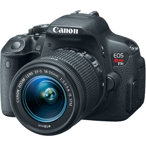Canon EOS Rebel T5i DSLR Camera with 18-55mm Lens and Inkjet Printer Kit