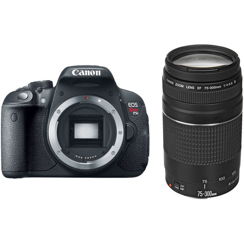 Canon EOS Rebel T5i DSLR Camera with 75-300mm Lens Kit