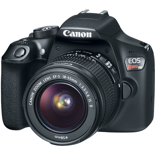 Canon EOS Rebel T6 DSLR Camera with 18-55mm Lens and Inkjet Printer Kit