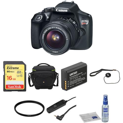 Canon EOS Rebel T6 DSLR Camera with 18-55mm Lens Basic Kit
