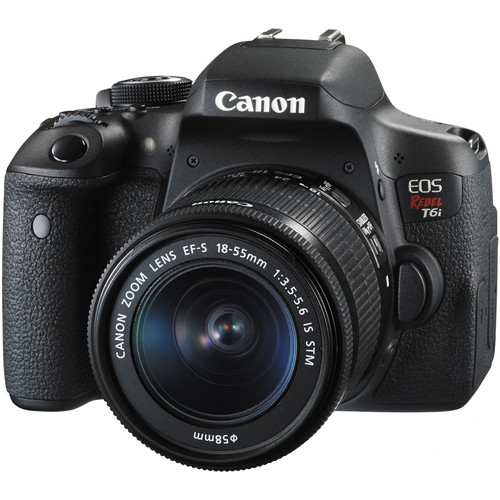 Canon EOS Rebel T6i DSLR Camera with 18-55mm Lens and Inkjet Printer Kit