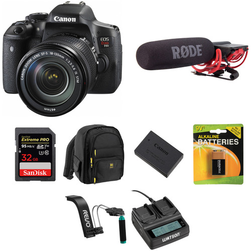 Canon EOS Rebel T6i DSLR Camera with 18-135mm Lens Video Kit