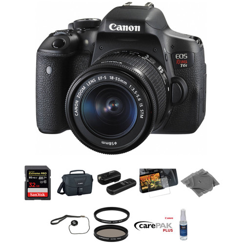 Canon EOS Rebel T6i DSLR Camera with 18-55mm Lens Deluxe Kit