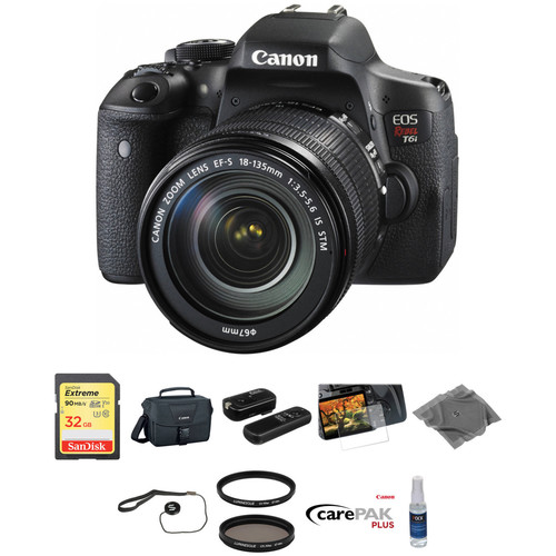 Canon EOS Rebel T6i DSLR Camera with 18-135mm Lens Deluxe Kit