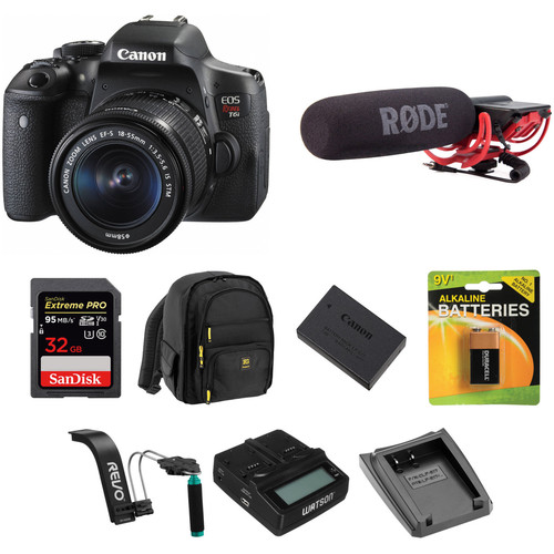 Canon EOS Rebel T6i DSLR Camera with 18-55mm Lens Video Kit