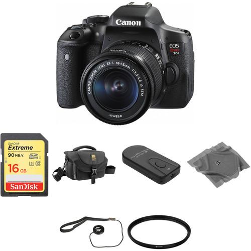 Canon EOS Rebel T6i DSLR Camera with 18-55mm Lens Basic Kit