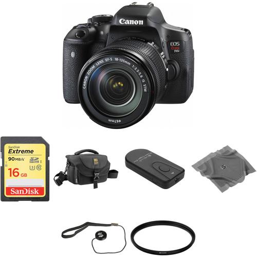 Canon EOS Rebel T6i DSLR Camera with 18-135mm Lens Basic Kit