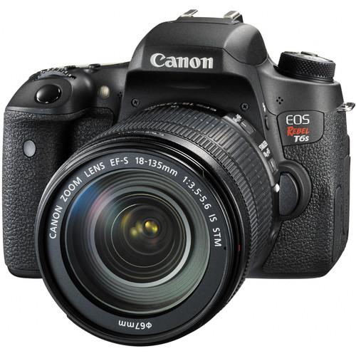 Canon EOS Rebel T6s DSLR Camera with 18-135mm Lens and Inkjet Printer Kit