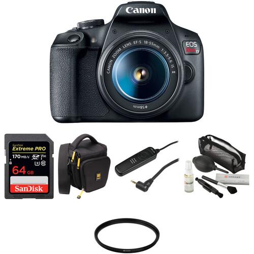 Canon EOS Rebel T7 DSLR Camera with 18-55mm Lens Basic Kit