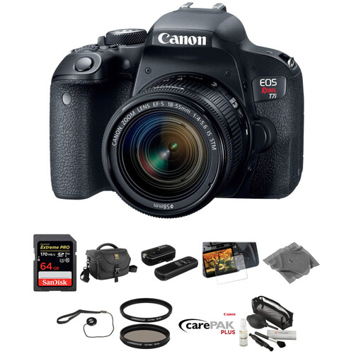 Canon EOS Rebel T7i DSLR Camera with 18-55mm Lens Deluxe Kit