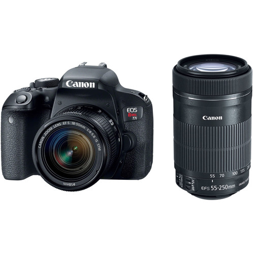 Canon EOS Rebel T7i DSLR Camera with 18-55mm and 55-250mm Lenses Kit