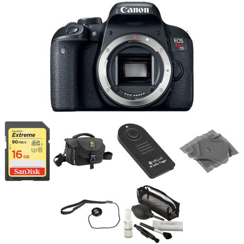 Canon EOS Rebel T7i DSLR Camera Body Basic Kit