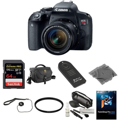 Canon EOS Rebel T7i DSLR Camera with 18-55mm Lens Basic Kit