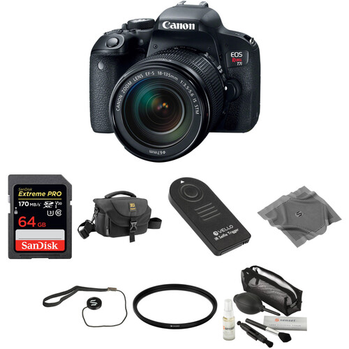 Canon EOS Rebel T7i DSLR Camera with 18-135mm Lens Basic Kit