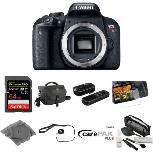 Canon EOS Rebel T7i DSLR Camera Body Deluxe Kit