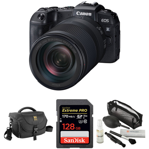 Canon EOS RP Mirrorless Digital Camera with 24-240mm Lens and Accessories Kit