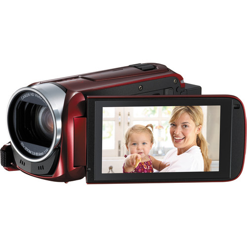 Canon 8GB Legria HF R46 Full HD Camcorder with WiFi (PAL, Red)