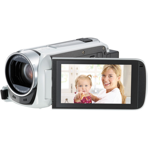 Canon 8GB Legria HF R46 Full HD Camcorder with WiFi (PAL, White)