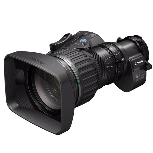 """Canon HJ18EX7.6B IASE S 2/3"""" ENG/EFP Zoom Lens with Full Servo Control"""