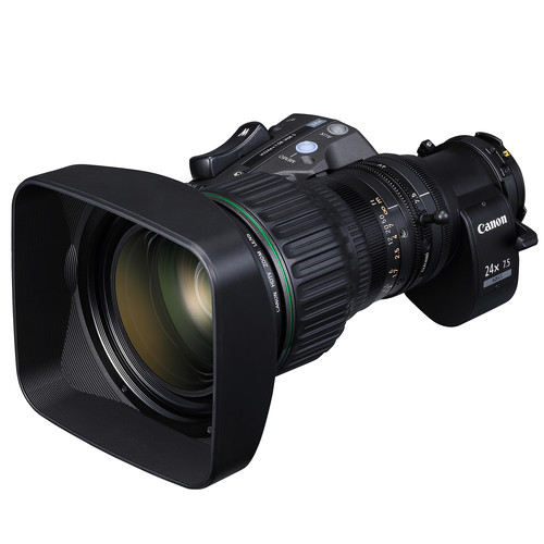 "Canon HJ24EX7.5B IASE S 2/3"" Hi-Def ENG/EFP Zoom Lens with Full Servo Control"