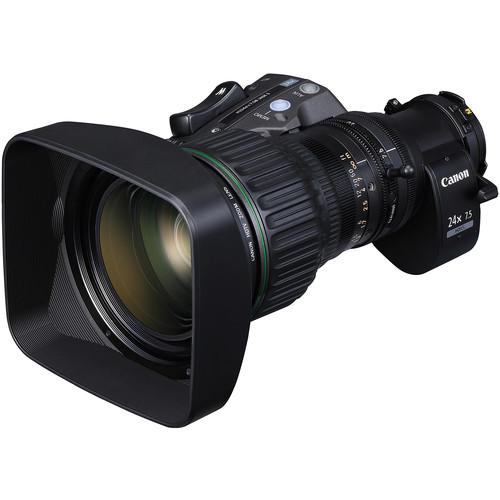 """Canon HJ24EX7.5B IRSE S 2/3"""" Hi-Def ENG/EFP Zoom Lens with Semi Servo Control"""