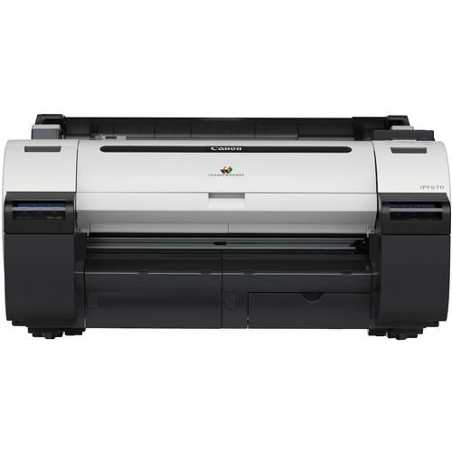"Canon imagePROGRAF iPF670 24"" Large-Format Inkjet Printer with ST-26 Printer Stand Kit"