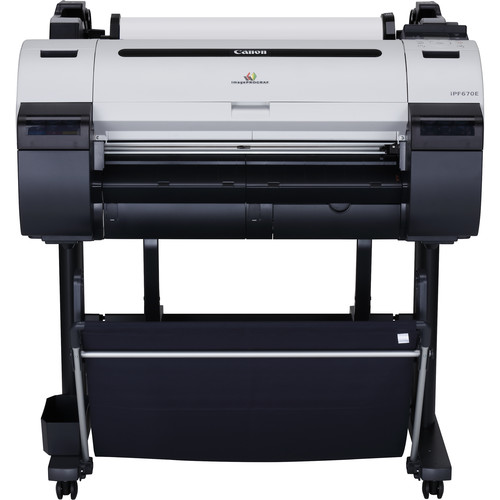 "Canon imagePROGRAF iPF670E 24"" Large-Format Inkjet Printer with ST-26 Stand Kit"