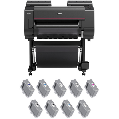 "Canon imagePROGRAF PRO-2000 24"" Large Format Printer with PFI-1100 LUCIA PRO Ink Tank Bundle"