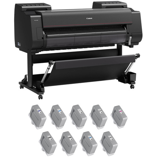 "Canon imagePROGRAF PRO-4000 44"" Large Format Printer with PFI-1300 LUCIA PRO Ink Tank Bundle"