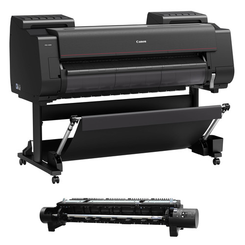"Canon imagePROGRAF PRO-4000 44"" Professional Photographic Large-Format Inkjet Printer with RU-41 Multifunction Roll System Kit"