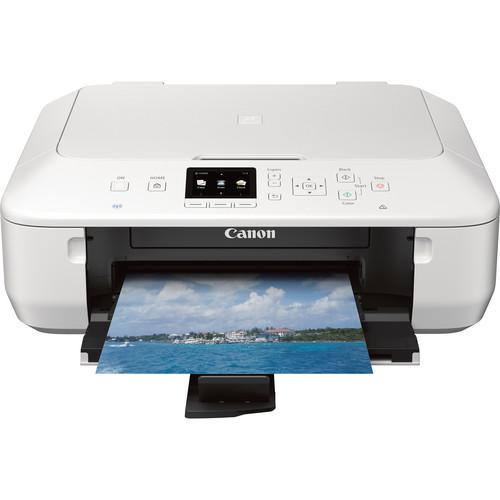 Canon PIXMA MG5520 Wireless Color All-in-One Inkjet Photo Printer (White)