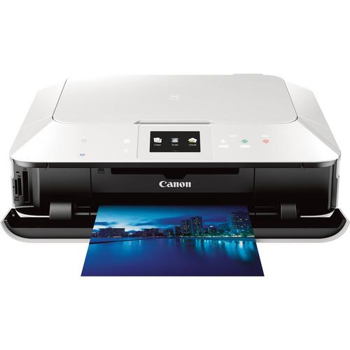 Canon PIXMA MG7120 Wireless Color All-in-One Inkjet Printer (White)